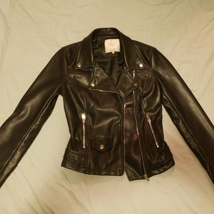 Zara Trafaluc faux leather jacket xs